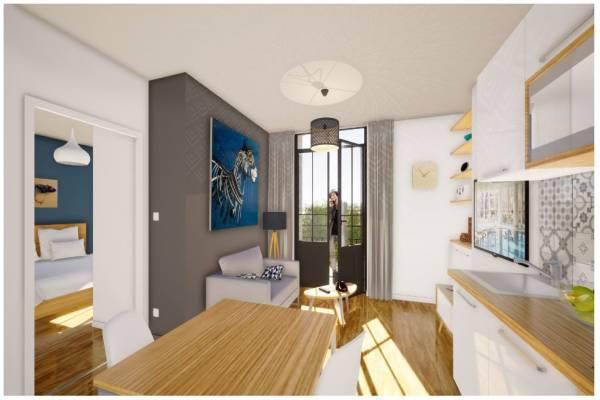 Photo T2 à 300 MTS DES THERMES AÏGA RESORT : PUY CHOP pour 2 personnes - 1er étage