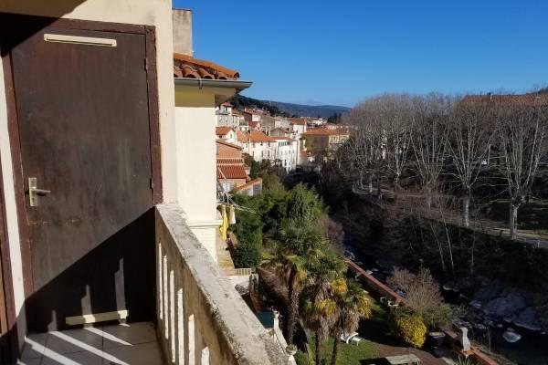 Photo Appartement 2 pièces à 100m des Thermes d'Amélie les Bains - Balcon et Parking