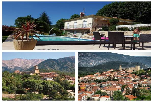 Photo Appartement en rez-de-chaussée de villa avec piscine pour les curistes de Vernet les Bains