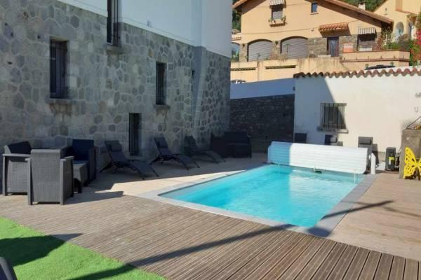 Photo Studio à 1 km du centre Thermal d'Amélie-les-Bains pour 2 personnes avec piscine